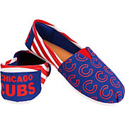 FOCO Women's Chicago Cubs Stripe Canvas Shoes