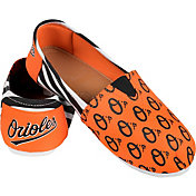 FOCO Women's Baltimore Orioles Stripe Canvas Shoes