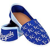 FOCO Women's Kansas City Royals Stripe Canvas Shoes