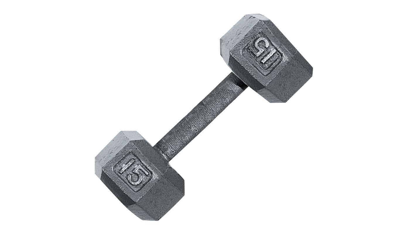 Fitness Gear 15 lb Cast Hex Dumbbell