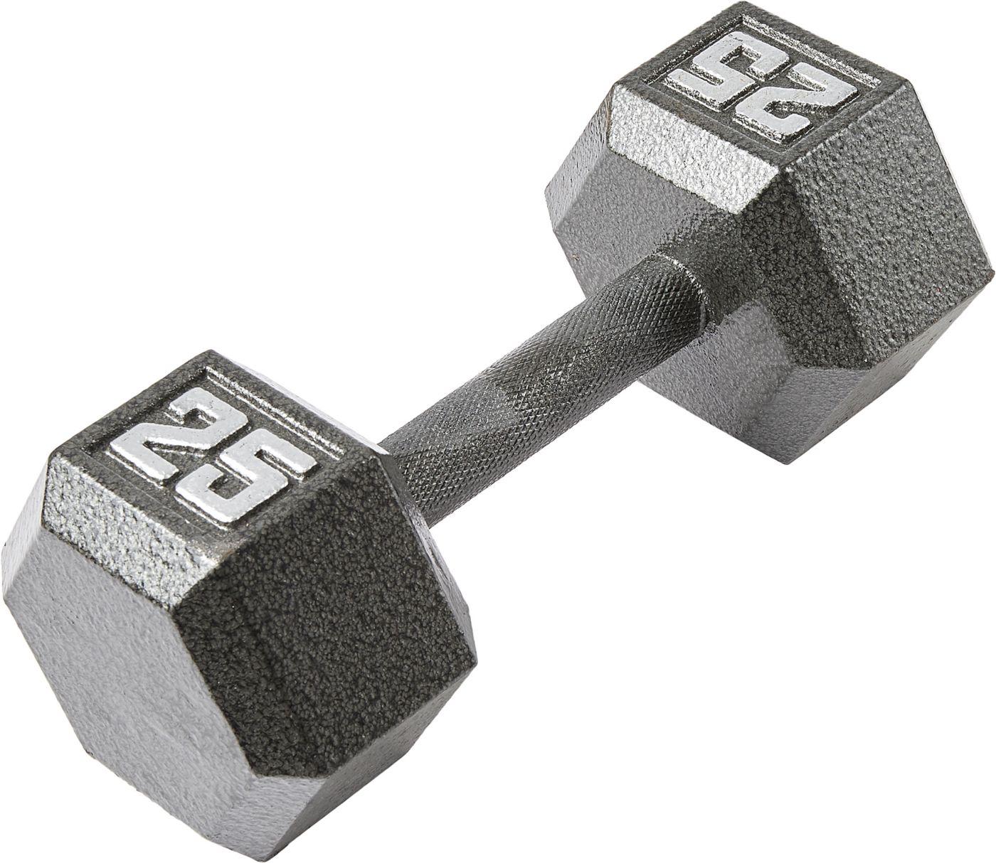 Fitness Gear 25 lb Cast Hex Dumbbell