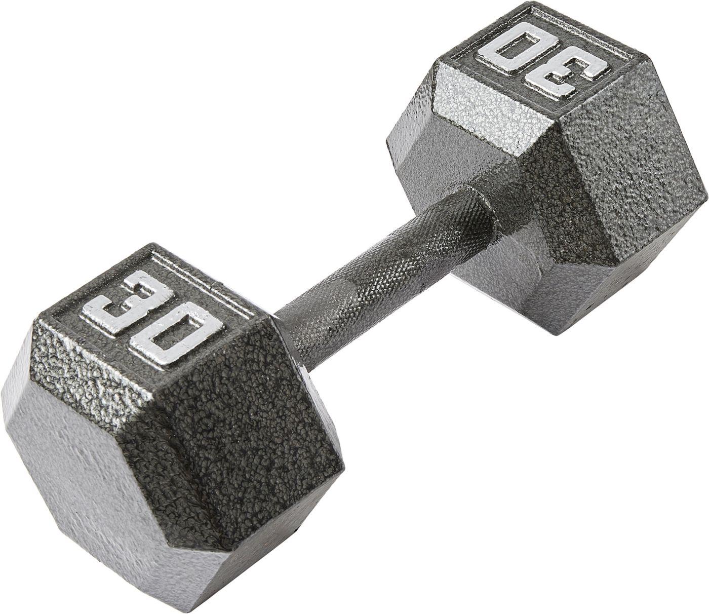Fitness Gear 30 lb Cast Hex Dumbbell