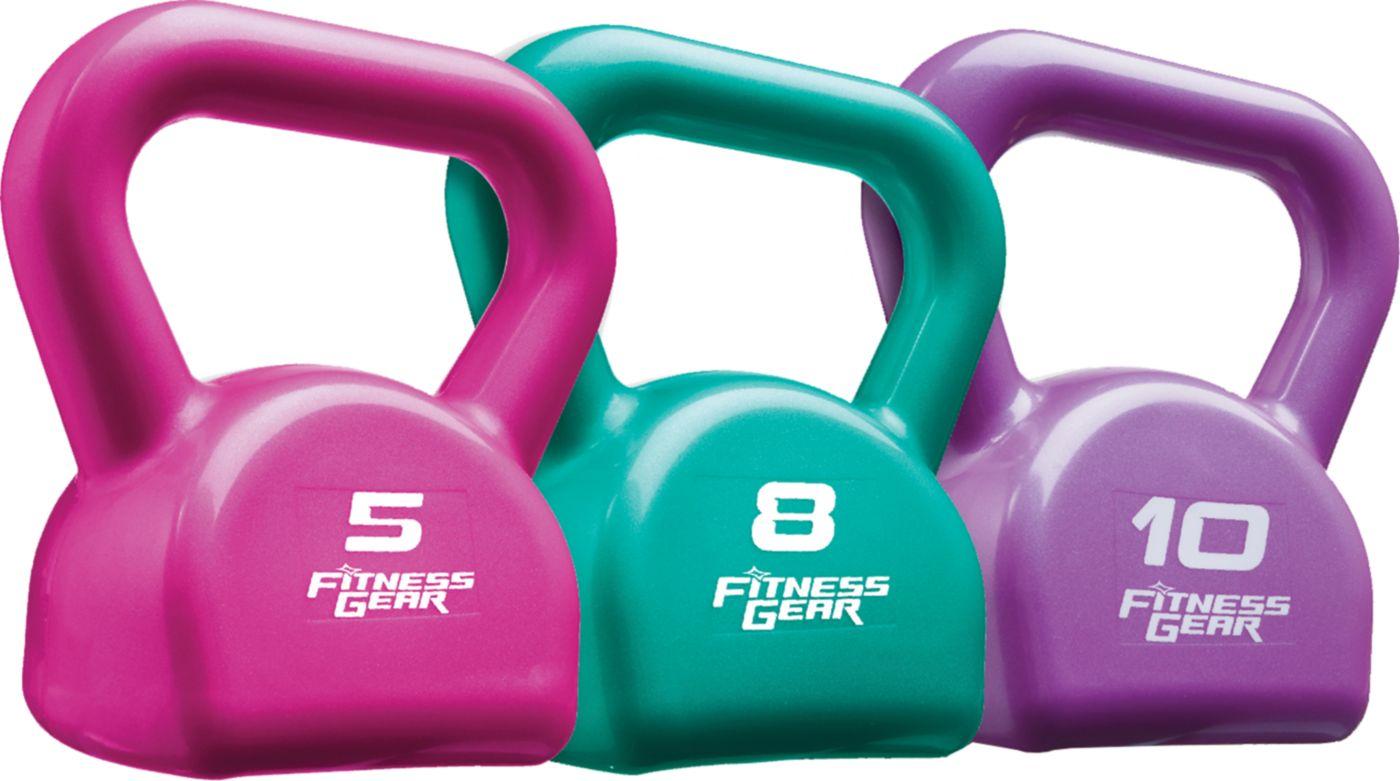 Fitness Gear 23 lb PVC Kettlebell Set
