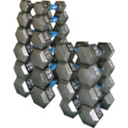 Fitness Gear Cast Hex 5-50 lb Dumbbell Set