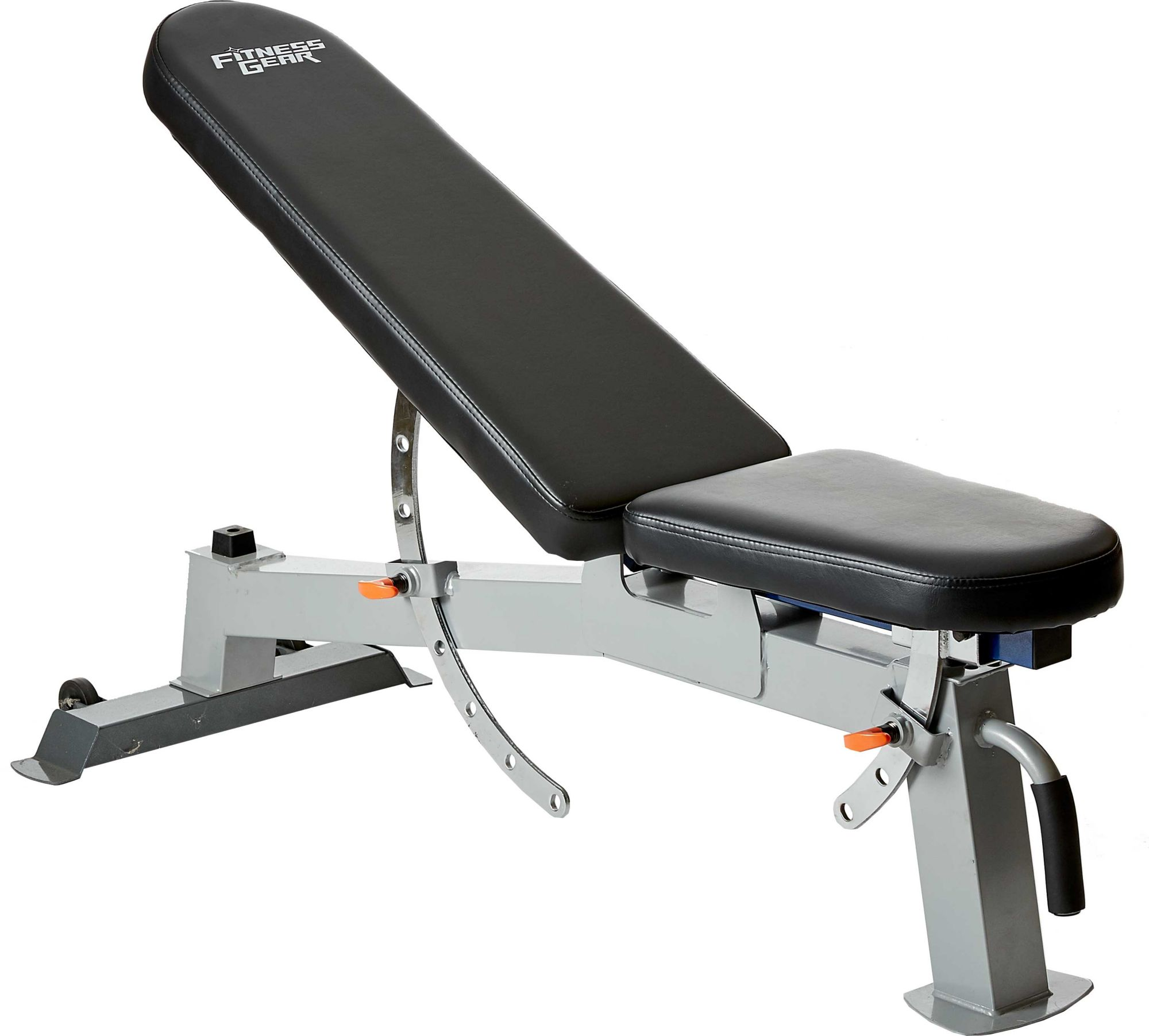 Free Weights On Bench: Fitness Gear Pro Utility Weight Bench
