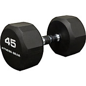 Fitness Gear 45 lb Rubber Hex Dumbbell