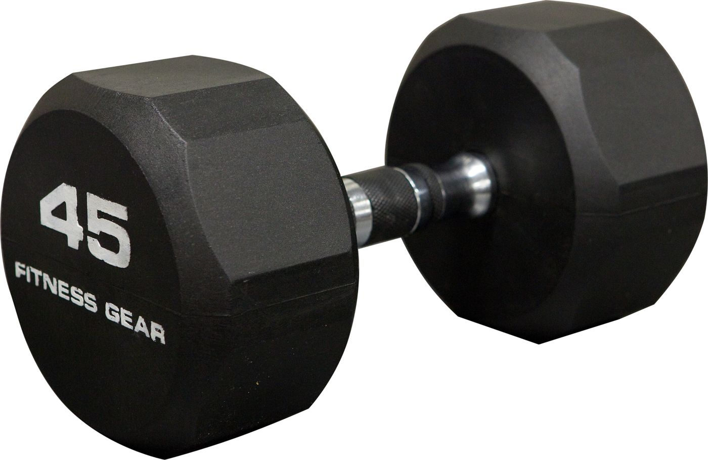 Fitness Gear 45 lb Rubber Hex Dumbbell