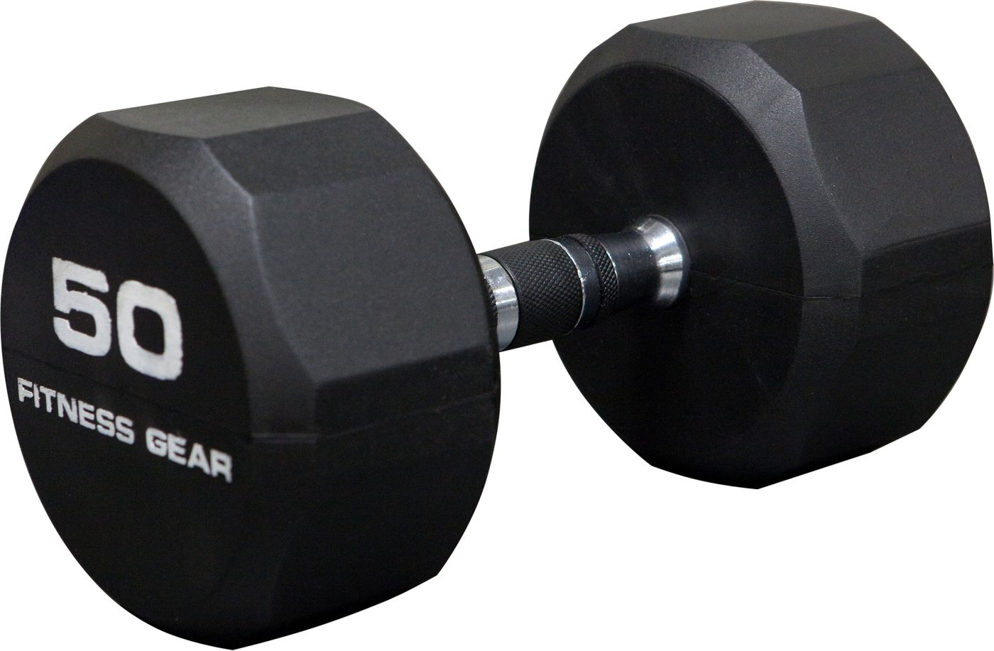 Fitness Gear 50 lb Rubber Hex Dumbbell