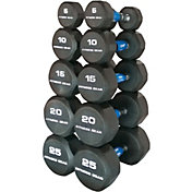 Fitness Gear Rubber Hex 5-25 lb Dumbbell Set