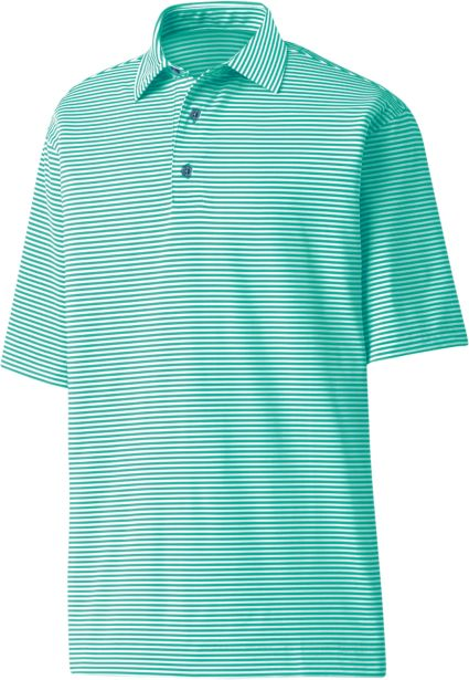 FootJoy Lisle Feeder Stripe Polo