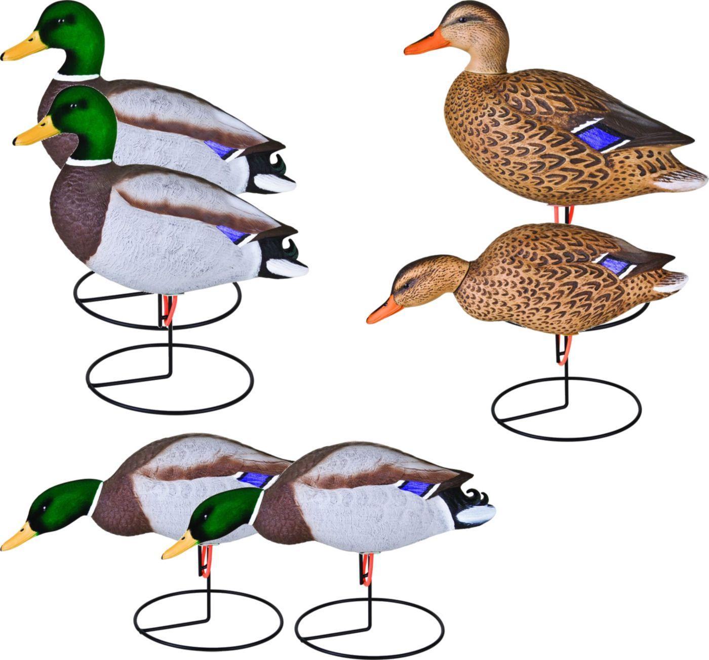 Flambeau Storm Front Flocked Head Mallard Duck Decoy – 6 Pack