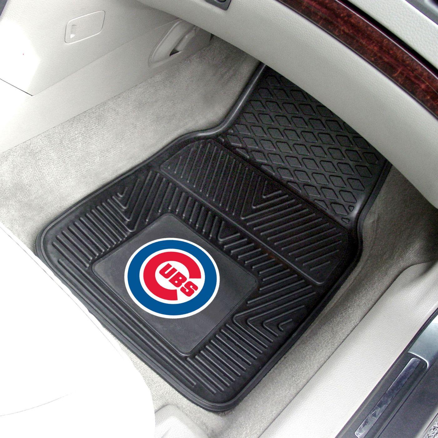 Chicago Cubs Heavy Duty Vinyl Car Mats 2-Pack