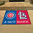 Chicago Cubs-St. Louis Cardinals House Divided Mat