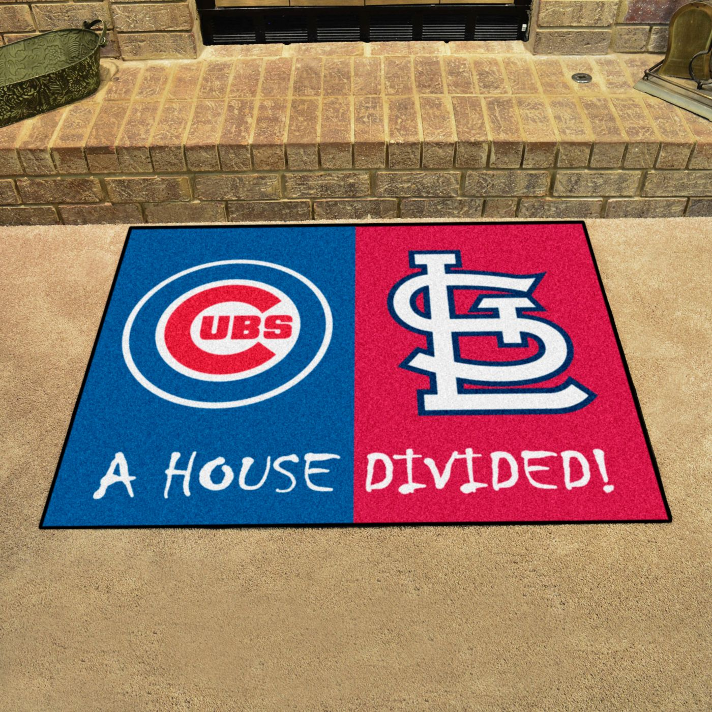 Chicago Cubs-St. Louis Cardinals House Divided Mat