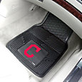 FANMATS Cleveland Indians Heavy Duty Vinyl Car Mats 2-Pack