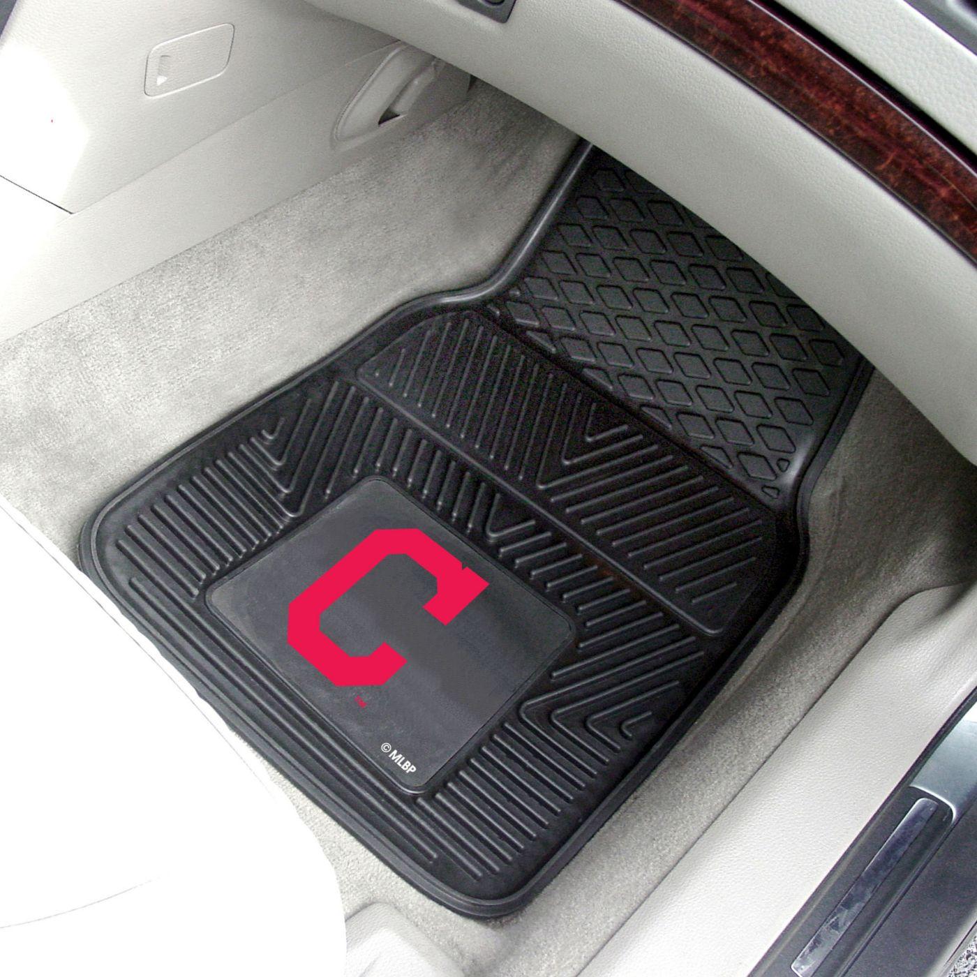 FANMATS Cleveland Indians Heavy Duty Vinyl Car Mats 2-Pack