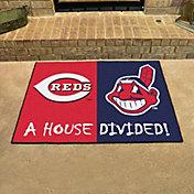 FANMATS Cincinnati Reds-Cleveland Indians House Divided Mat