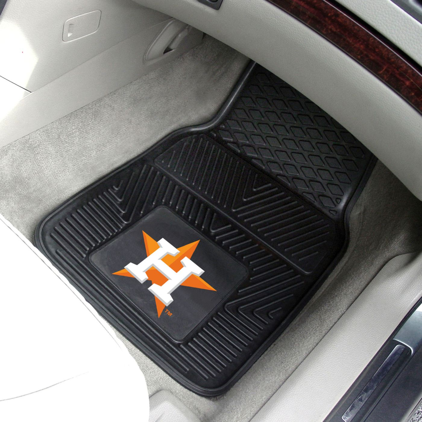 FANMATS Houston Astros Heavy Duty Vinyl Car Mats 2-Pack