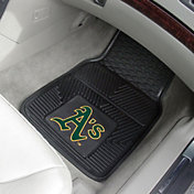 FANMATS Oakland Athletics Heavy Duty Vinyl Car Mats 2-Pack