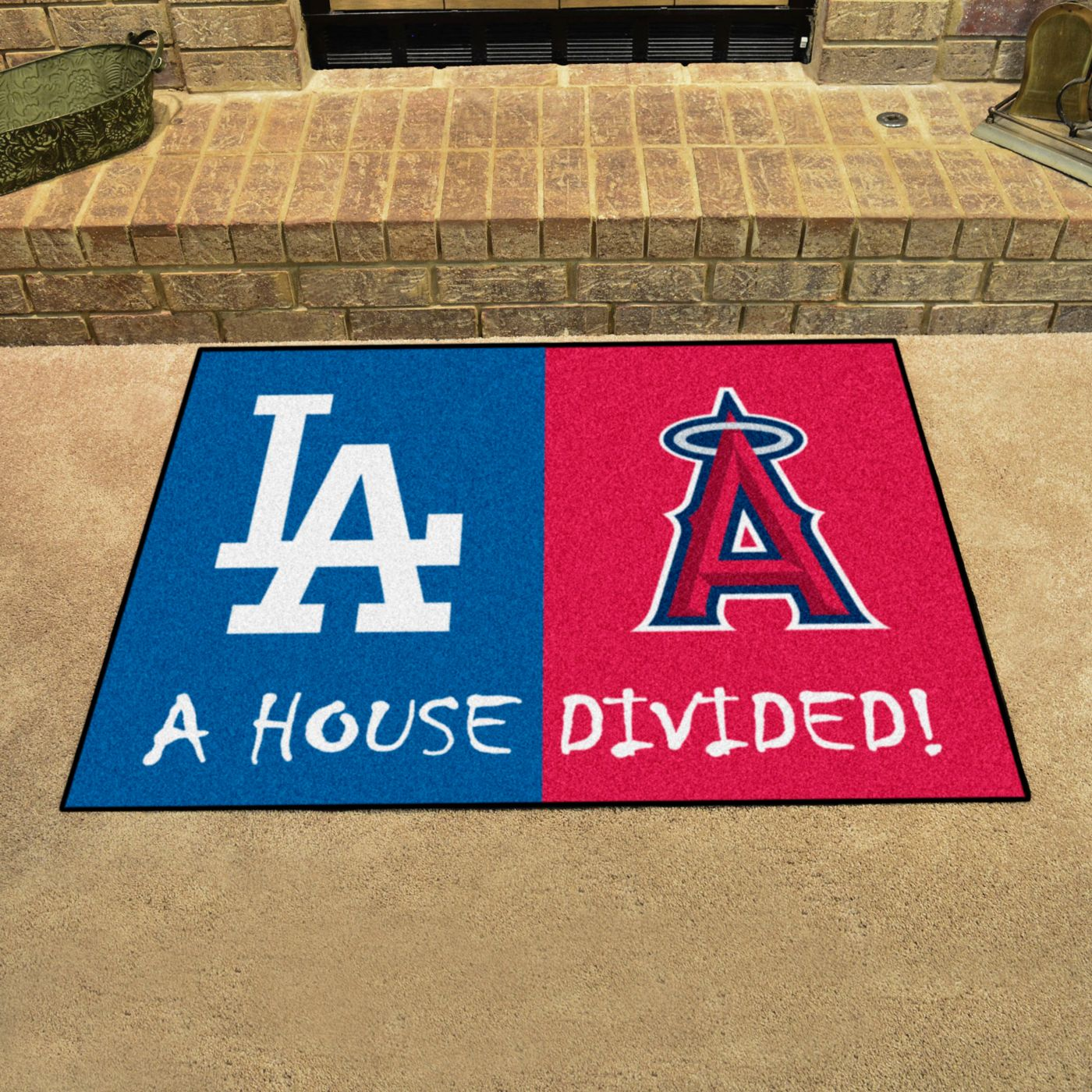 FANMATS Los Angeles Dodgers-Anaheim Angels House Divided Mat