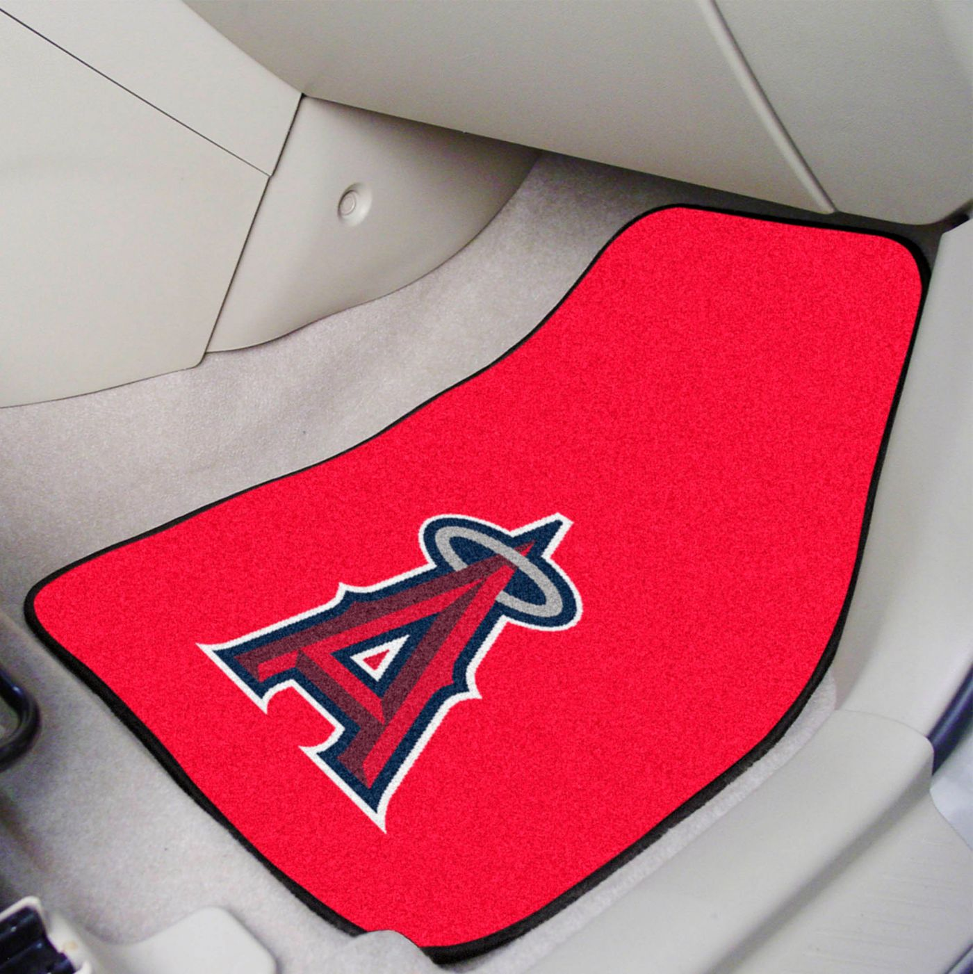FANMATS Los Angeles Angels Printed Car Mats 2-Pack