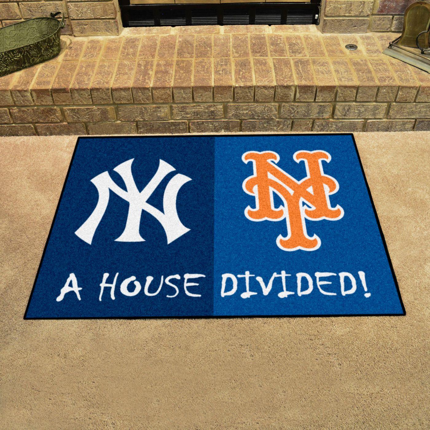 FANMATS New York Yankees-New York Mets House Divided Mat