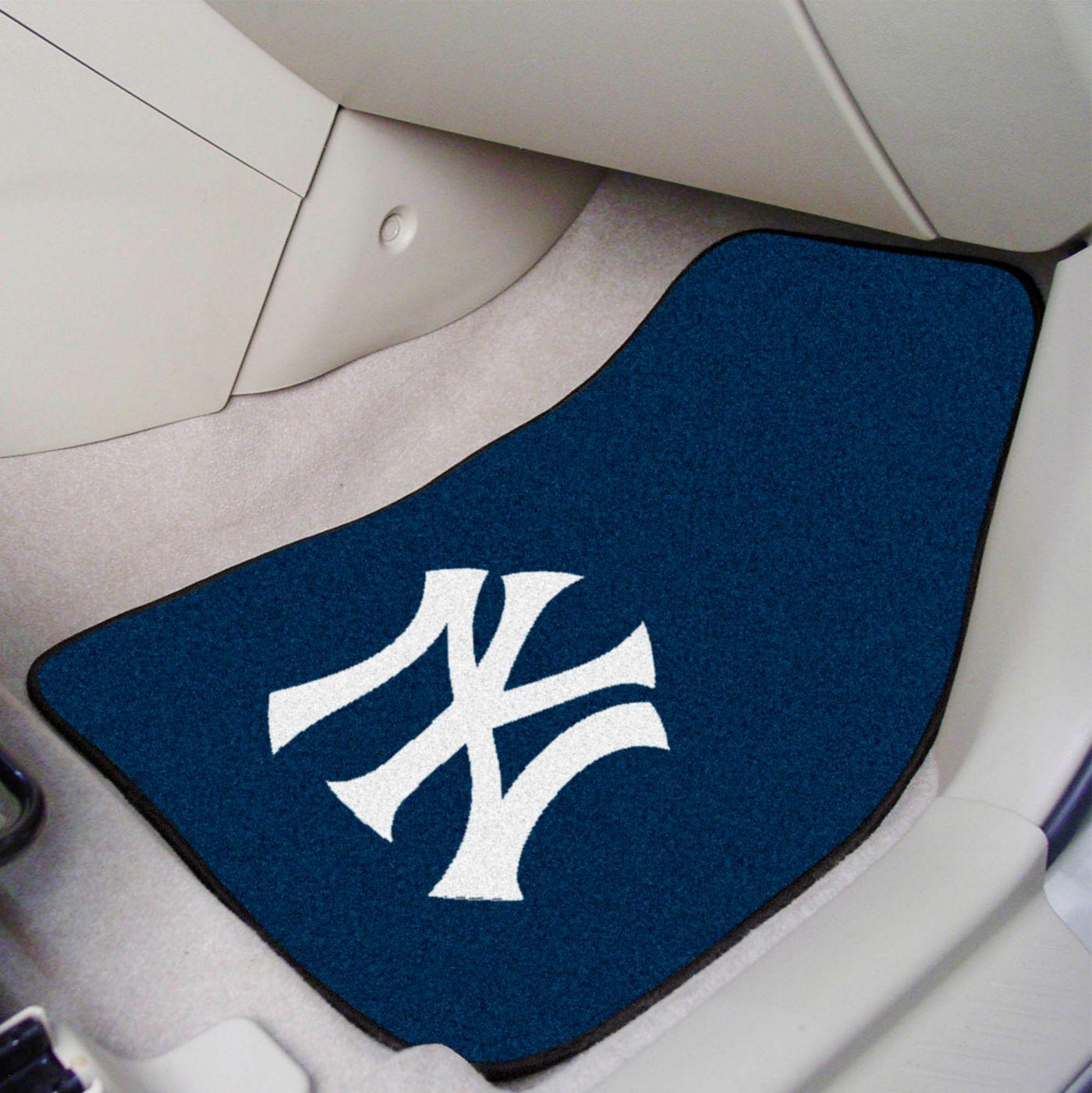 FANMATS New York Yankees Printed Car Mats 2-Pack