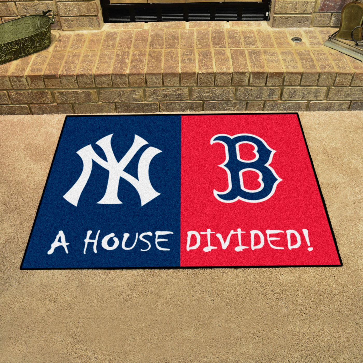 FANMATS New York Yankees-Boston Red Sox House Divided Mat