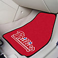 Philadelphia Phillies Printed Car Mats 2-Pack
