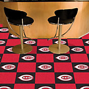 Cincinnati Reds Team Carpet Tiles