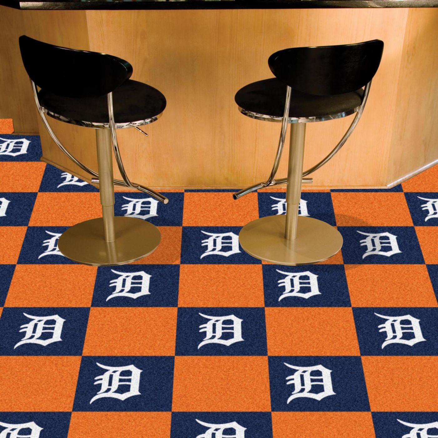 Detroit Tigers Team Carpet Tiles