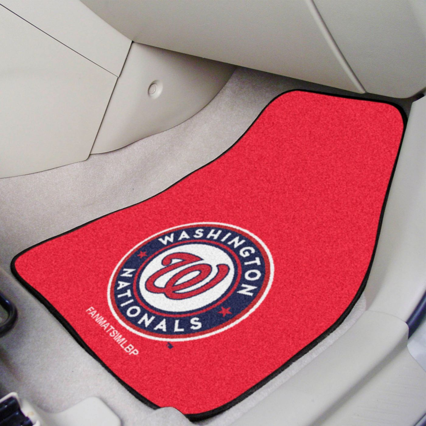 Washington Nationals Printed Car Mats 2-Pack