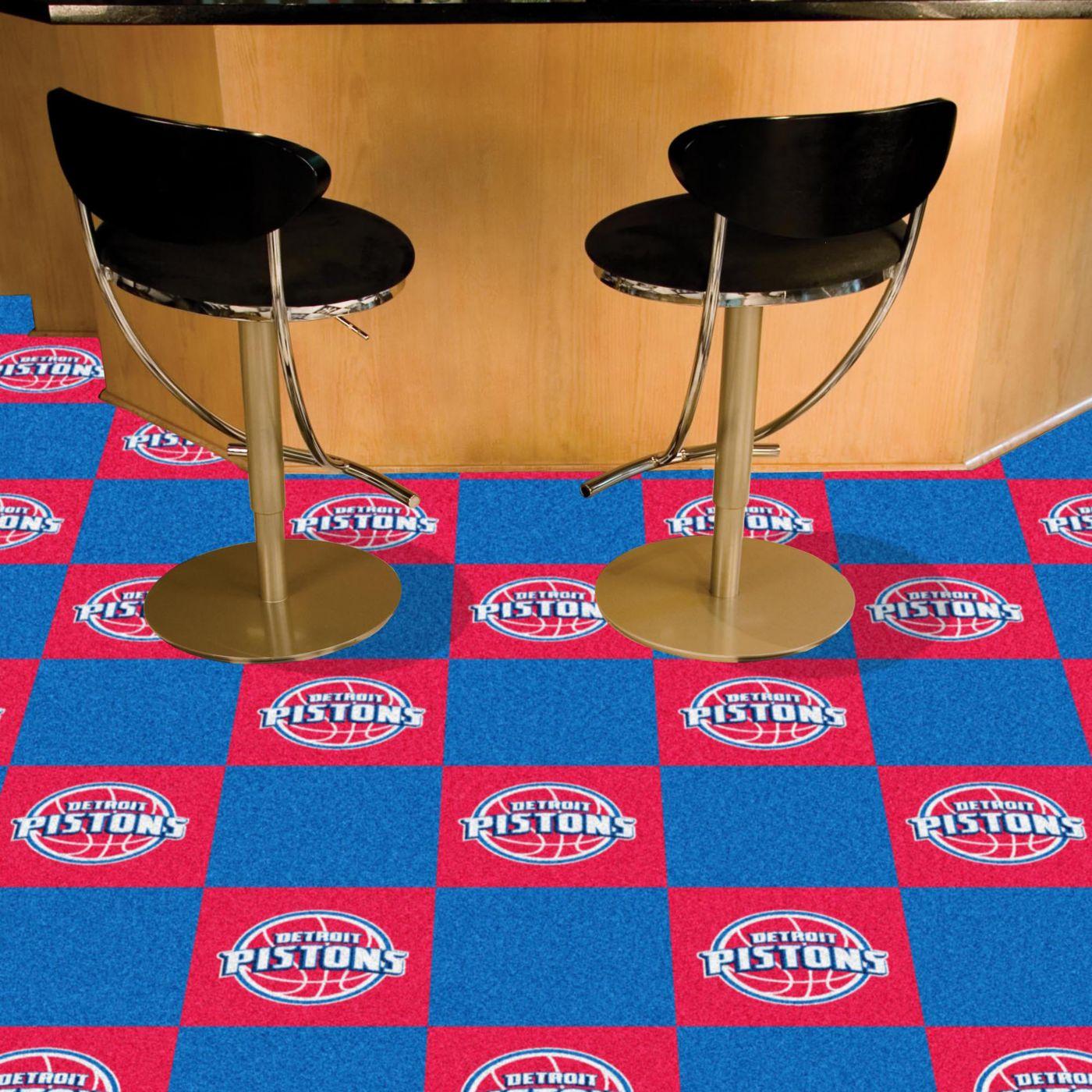 FANMATS Detroit Pistons Carpet Tiles