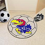 FANMATS Kansas Jayhawks Soccer Ball Mat