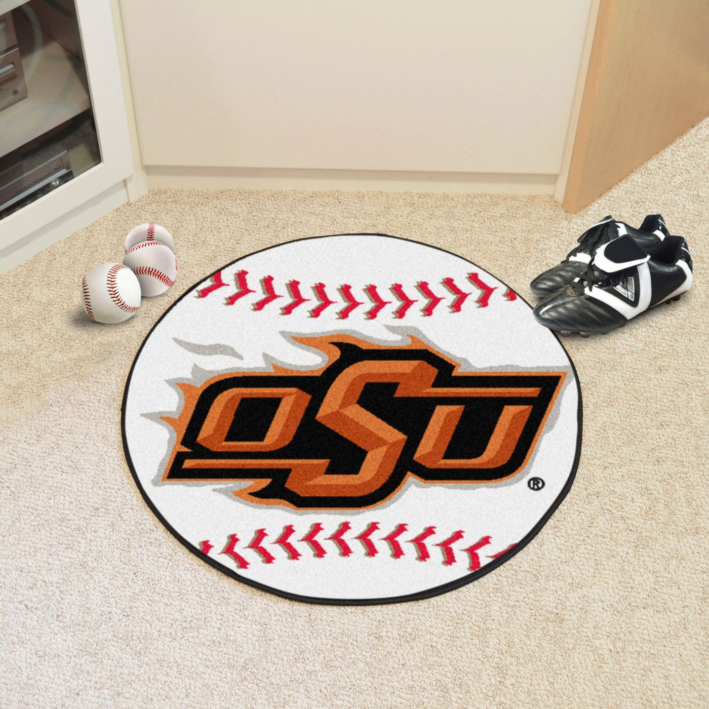 FANMATS Oklahoma State Cowboys Baseball Mat