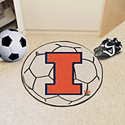 FANMATS Illinois Fighting Illini Soccer Ball Mat