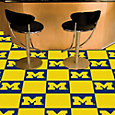 FANMATS Michigan Wolverines Team Carpet Tiles