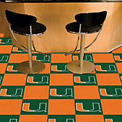 FANMATS Miami Hurricanes Team Carpet Tiles