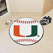 FANMATS Miami Hurricanes Baseball Mat