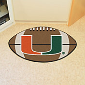 FANMATS Miami Hurricanes Football Mat
