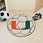 FANMATS Miami Hurricanes Soccer Ball Mat