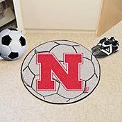 FANMATS Nebraska Cornhuskers Soccer Ball Mat