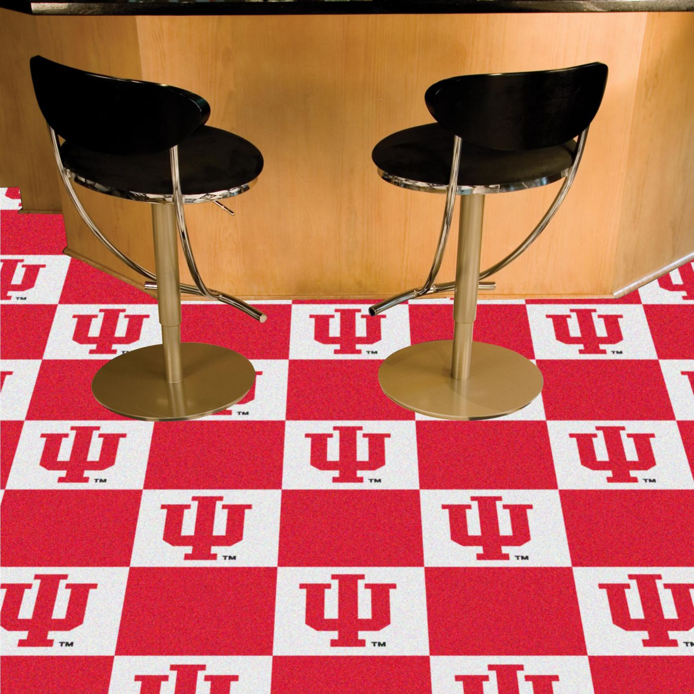 FANMATS Indiana Hoosiers Team Carpet Tiles