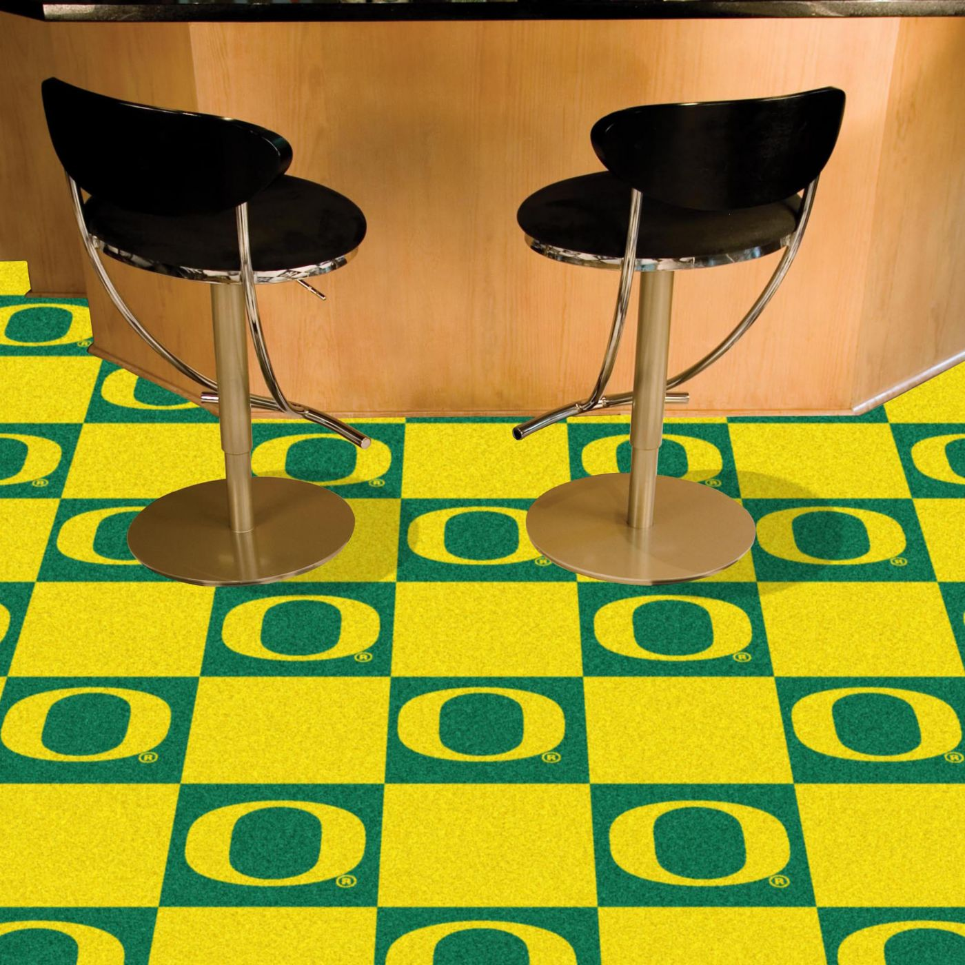 FANMATS Oregon Ducks Team 20 Piece Carpet Tile Set