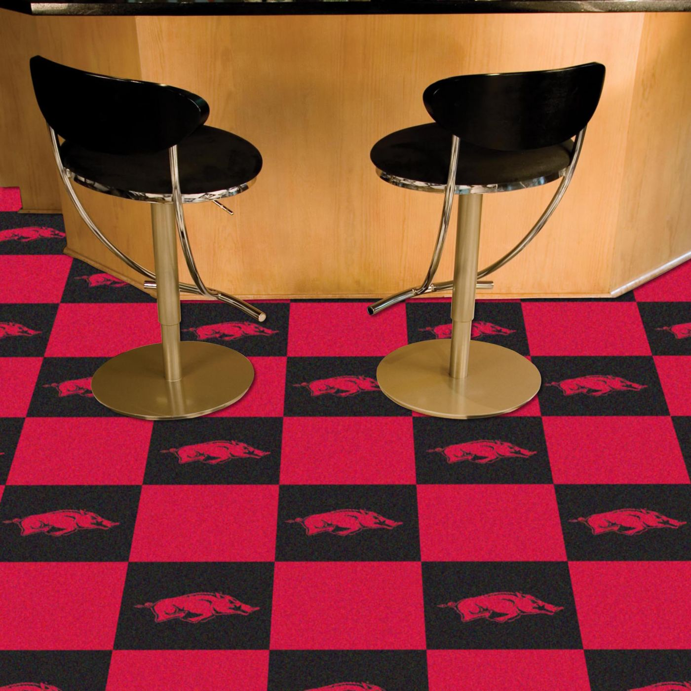 FANMATS Arkansas Razorbacks Team Carpet Tiles