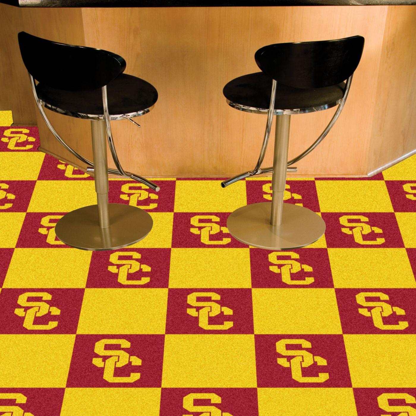 FANMATS USC Trojans Team Carpet Tiles