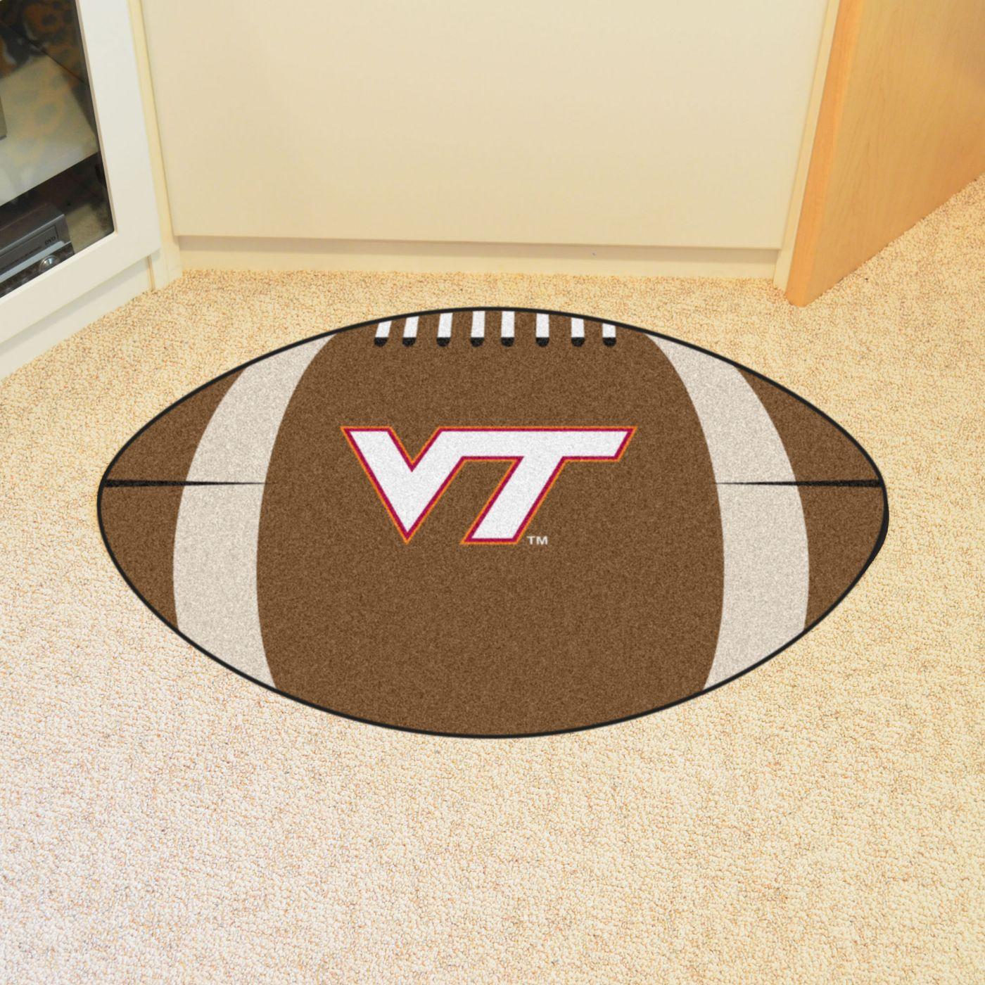 Virginia Tech Hokies Football Mat