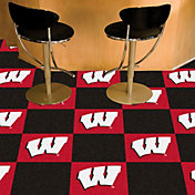 FANMATS Wisconsin Badgers Team Carpet Tiles