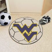 FANMATS West Virginia Mountaineers Soccer Ball Mat