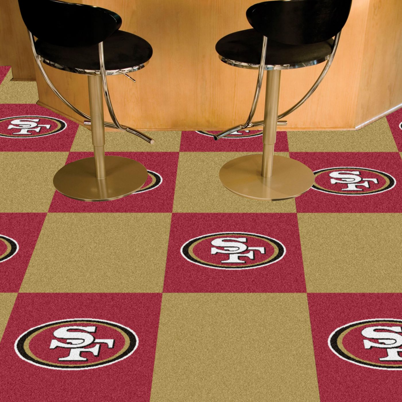 FANMATS San Francisco 49ers Team Carpet Tiles
